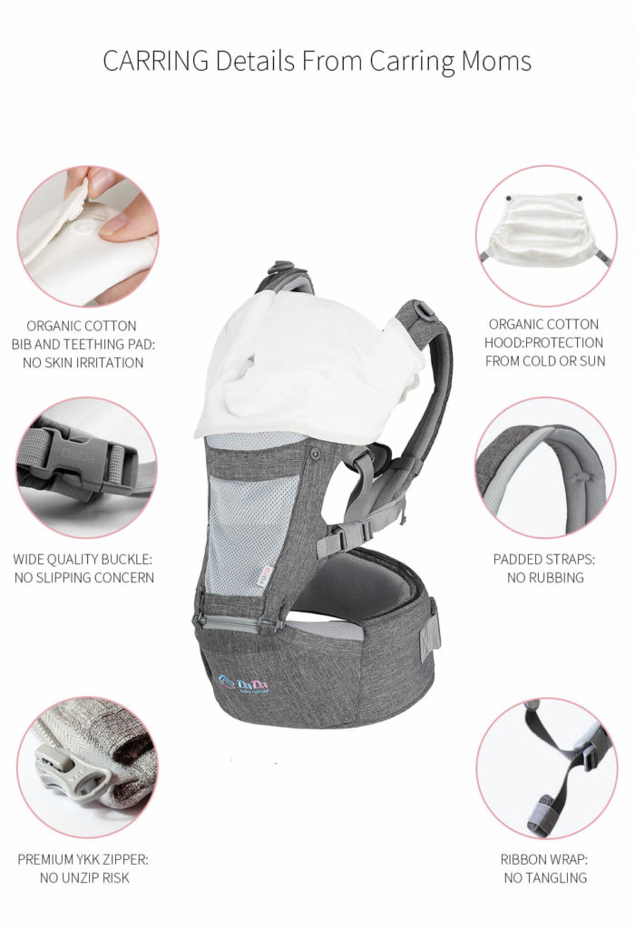 dada baby carrier with hood